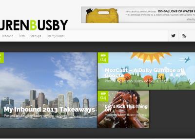 LaurenBusby.com – Blog Design
