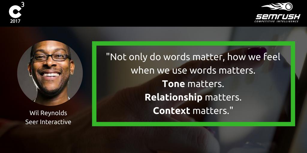 wil reynolds, seo, tone, context marketing
